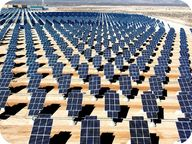 Picture of solar panels in a solar power station