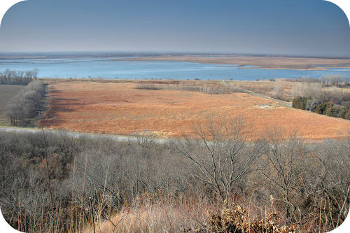 Loess hills are like sand dunes made from silt and clay