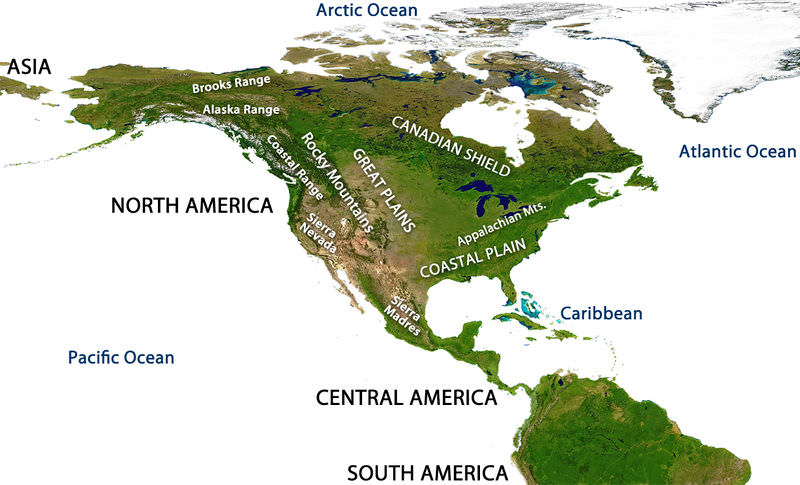 Theory Of Plate Tectonics CK Foundation - United states mountain ranges