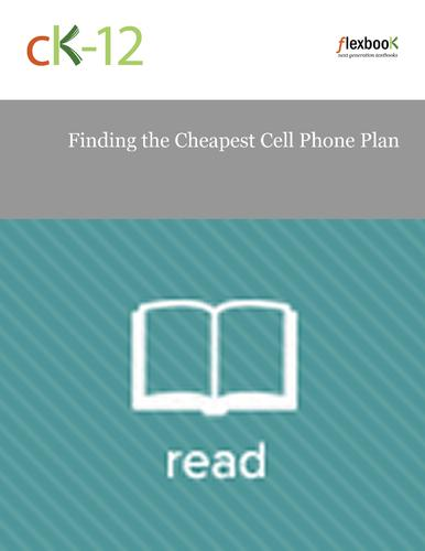 Finding the Cheapest Cell Phone Plan