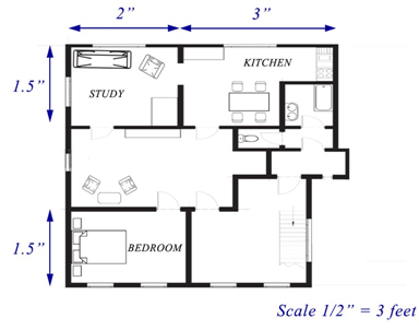 This floor plan shows Bonnie's house. Use it to answer the following  questions.