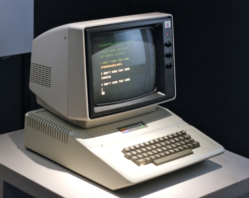 An Apple II computer manufactured about 1980.