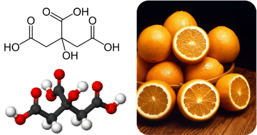 Citric acid gives citrus fruits their sour or tart flavor