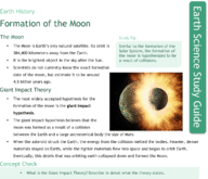 Formation of the Moon Study Guide