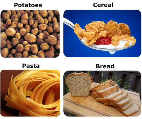 Examples of starches