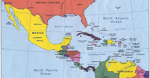 Map Us And Central America Middle America | CK 12 Foundation