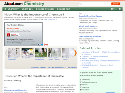 What Is the Importance of Chemistry?