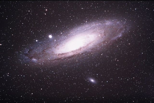 Photograph of Andromeda galaxy