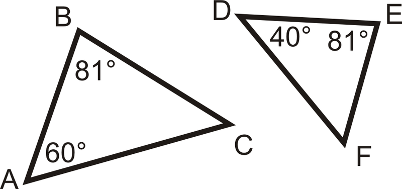 Similarity by AA – Triangle Similarity Worksheet