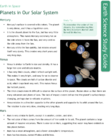 Planets in Our Solar System Study Guide