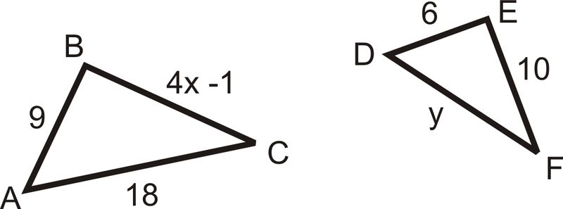 Solution  According to the similarity statement the corresponding B6FWlMgN