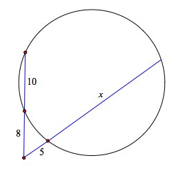 circle laws given a diameter how to find chord