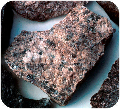 Granite from Missouri, and part of the continental crust