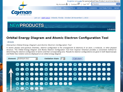 Orbital Energy Diagram and Atomic Electron Configuration Tool