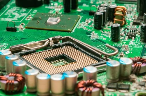 Photograph of a circuit board