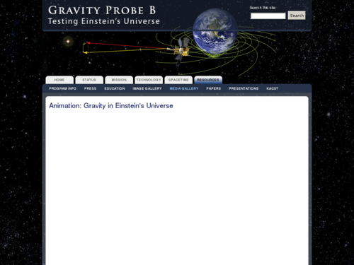 Animation: Gravity in Einstein's Universe