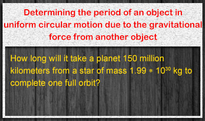 Newton's Law of Gravitation - Example 5