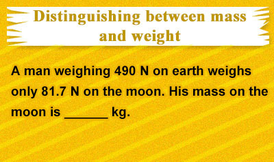 Force of Gravity (Weight) and Normal Force - Example 1