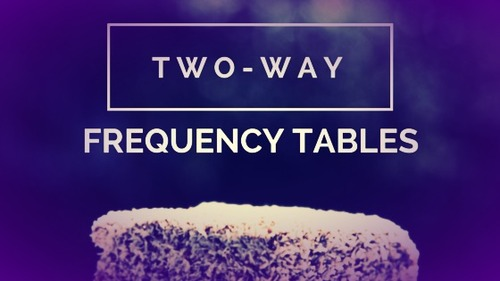 Two-Way Frequency Tables.