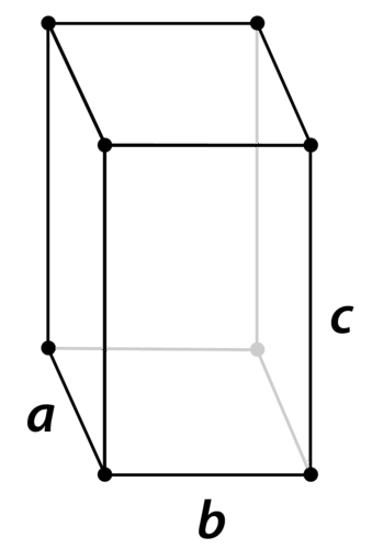 Structure of an orthorhombic crystal