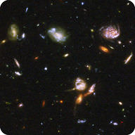 Far away objects show us what the Universe was like not long after the Big Bang