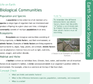 Biological Communities Study Guide