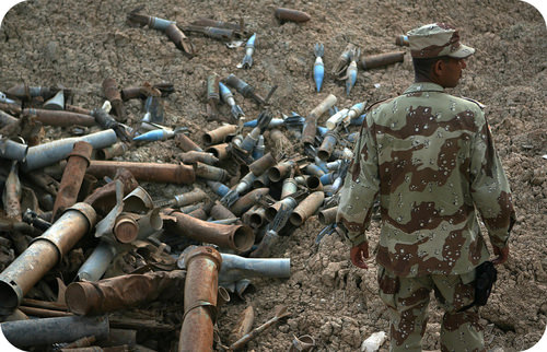Rusting artillery shells involve chemical reactions