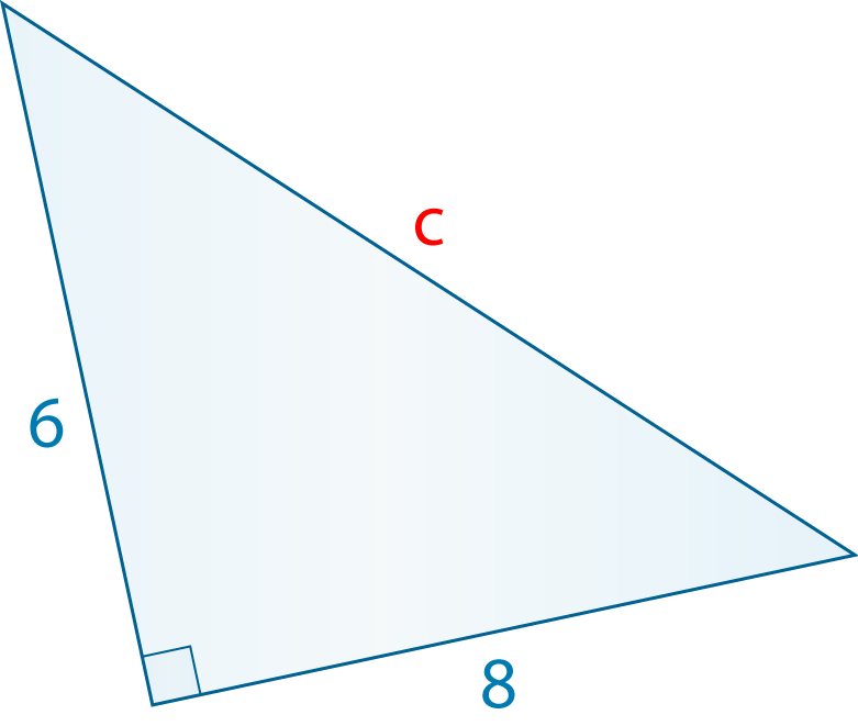 pythagoras theorem how to find the hypotenuse to find c