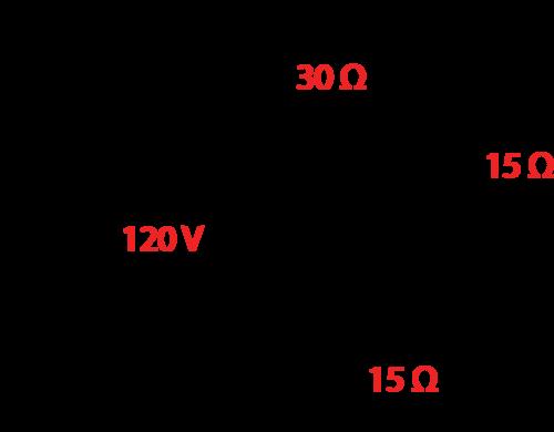 Three resistors in series