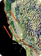 Map of the San Andreas Fault