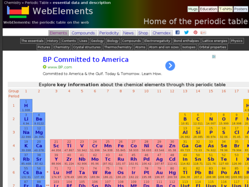 Periodic Table and Elements