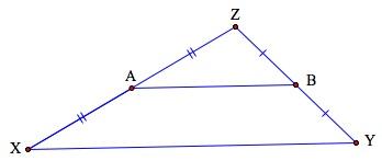Segmentos medios de un triángulo