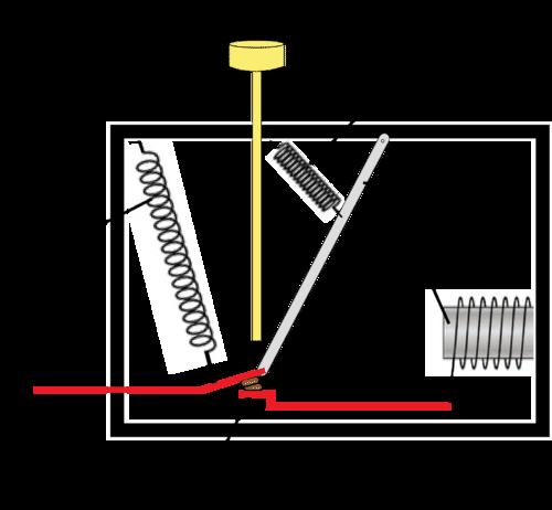Diagram of a circuit breaker