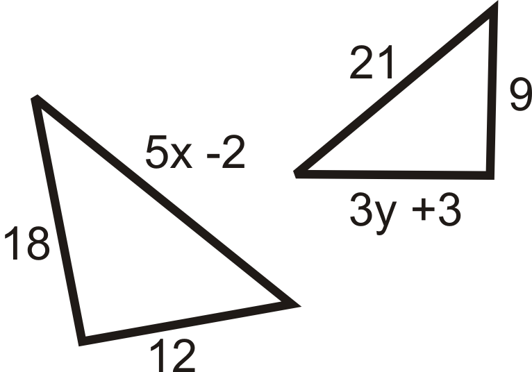 how to find the similarity ratio of 2 triangles