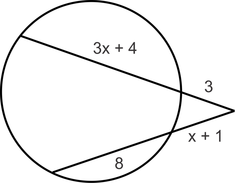Segments Of Chords Secants And Tangents Ck 12 Foundation