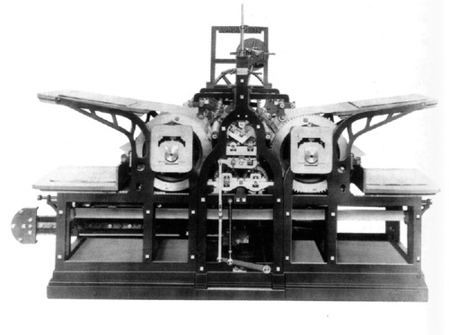 Steam press invented by Friedrich Koenig in 1814.