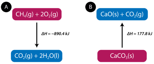In endothermic reactions, enthalpy increases and heat is absorbed from the environment