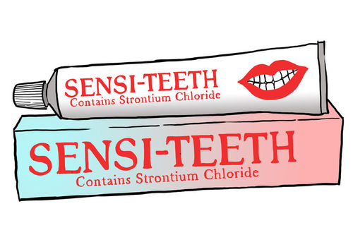 Toothpaste that contains strontium chloride