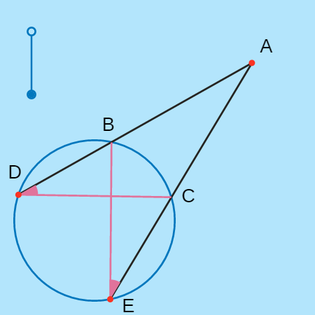 Prove the Two Secants Theorem