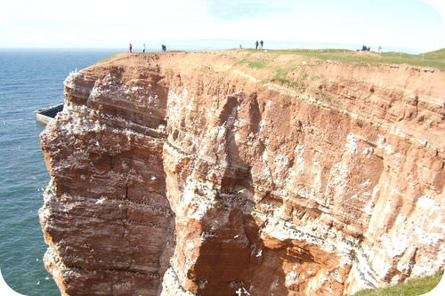 A cliff made of sandstone