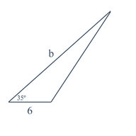 Determination of Unknown Triangle Measures Given Area
