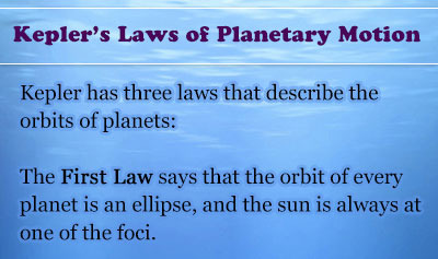 Kepler's Laws of Planetary Motion - Overview