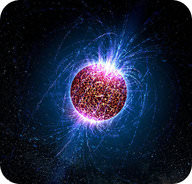 An artist's rendition of an ultra-dense neutron star