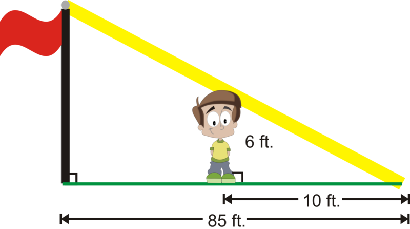 Indirect Measurement Worksheet: Indirect Measurement ( Read )   Geometry   CK 12 Foundation,