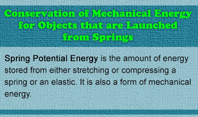 Conservation of Mechanical Energy for Objects that are Launched from Springs - Overview