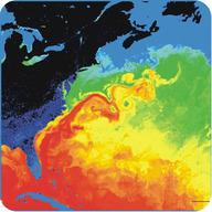 Satellite image of the Gulf Stream