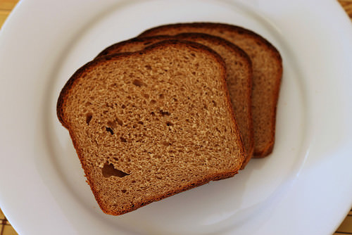 Holes in bread are due to alcoholic fermentation