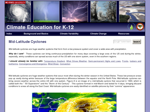 Mid-Latitude Cyclones: Online Meteorology Guide