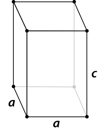 Structure of a tetragonal crystal