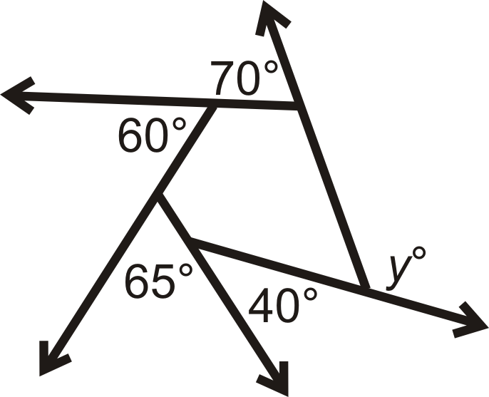 Begin Align Yend Align Is An Exterior Angle As Well As All The Other Given Angle Measures